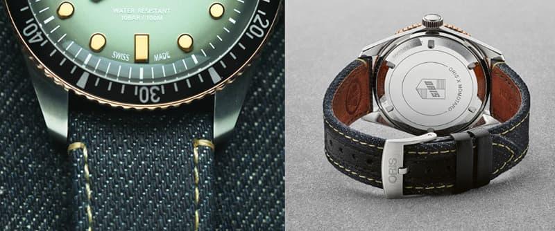 日本の独立企業 桃太郎ジーンズ との提携により実現した、オリス ダイバーズ65特別モデル