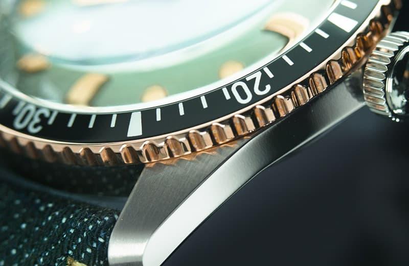 グリーングラデーション腕時計 オリス ORIS ダイバーズ65