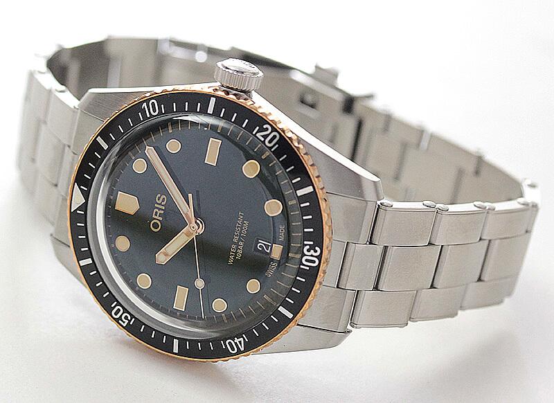 オリス(Oris)ダイバーズ65(Divers Sixty-Five)733.7707.4357 グリーンダイヤル×ステン 腕時計