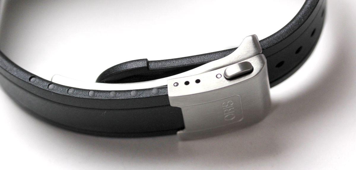 オリス腕時計 ラバーベルト フォールディングバックル 留めたところ
