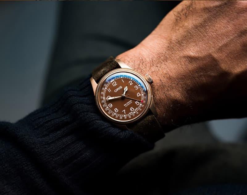 結納返しの贈り物や、記念品に人気のオリス ビッグクラウン ポインターデイト 腕時計