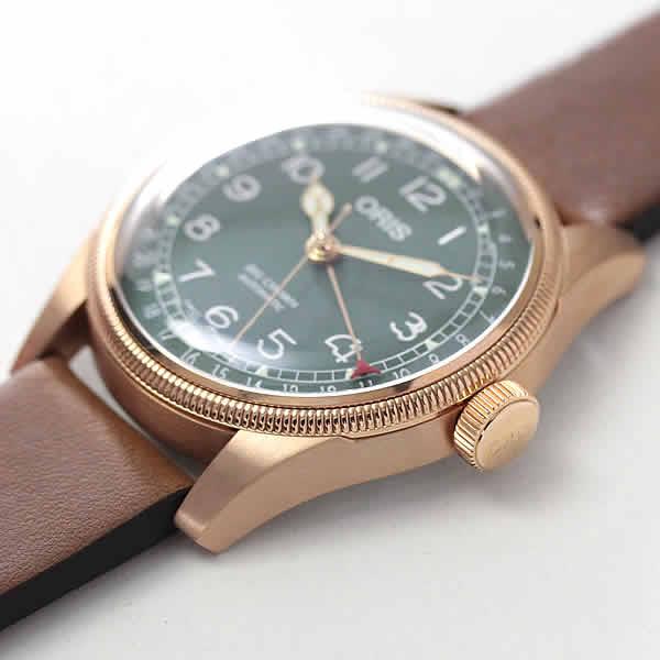 オリス ビッグクラウン ブロンズ グリーン 腕時計