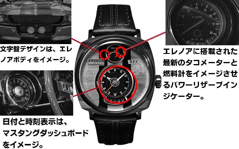 フォード・マスタング エレノア 腕時計 説明