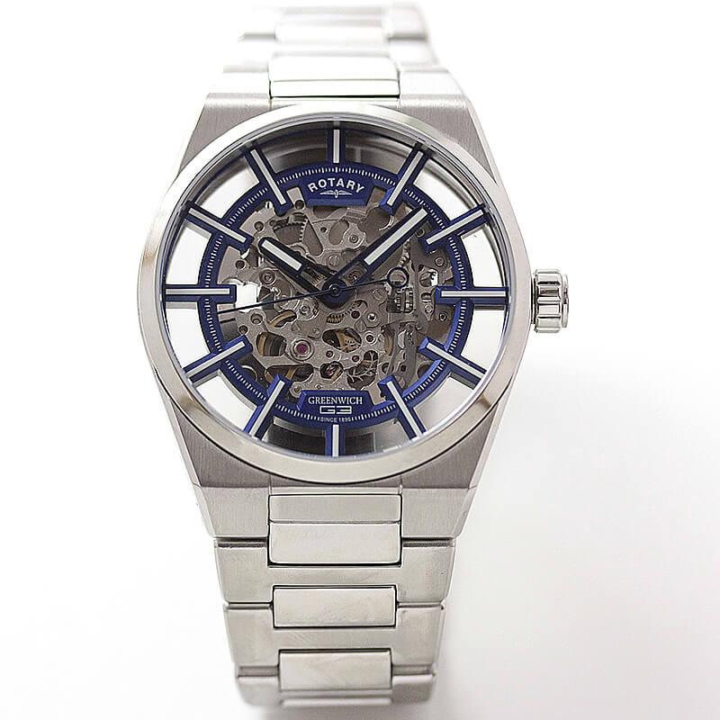 両面スケルトン腕時計