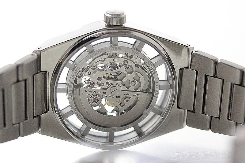 rotary ロータリー Cambridge ケンブリッジ 自動巻き腕時計 イギリス 英国ブランド 腕時計  シースルーバック ムーブメントが見える オートマチック