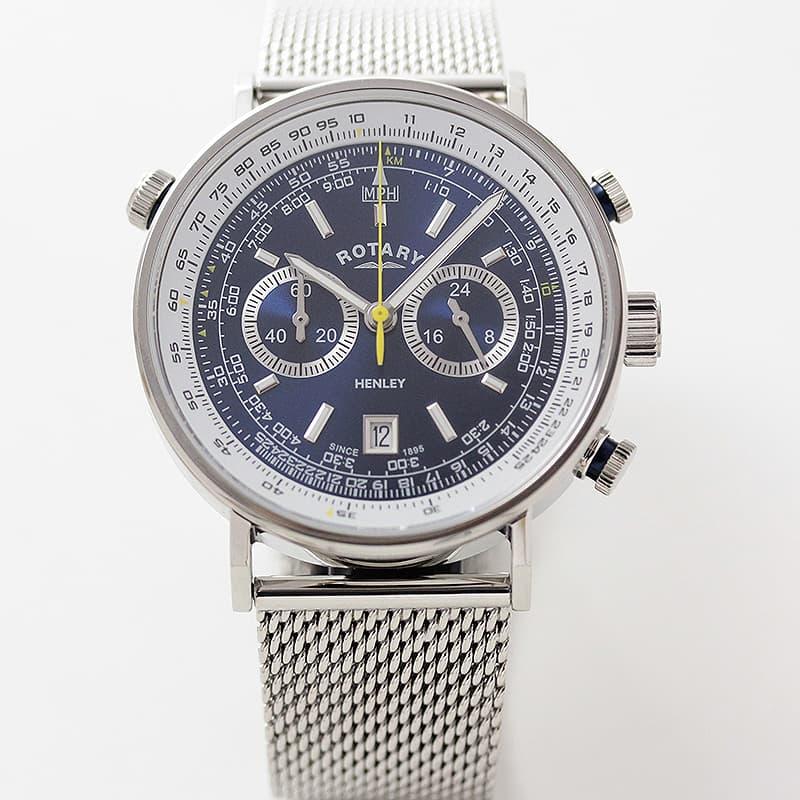 ツーカウンタークロノグラフ ロータリー 腕時計