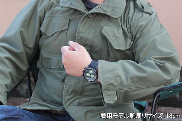 6s30-6204212 着用モデル腕周り18cm