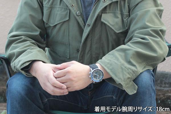 6s30-6205213 着用モデル腕周り18cm