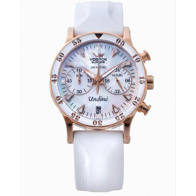 200m防水、海などレジャーが好きな女性の方にオススメのボストークヨーロッパ  ウンディーネ腕時計。