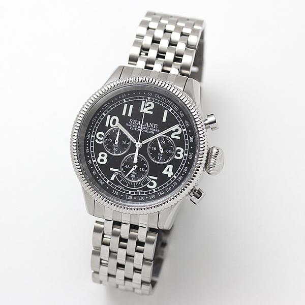 SEALANE(シーレーン) クォーツ式 腕時計 SE15-BK