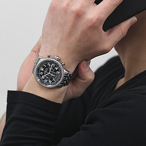 SEALANE(シーレーン) クォーツ式 腕時計 SE15-BK 着用