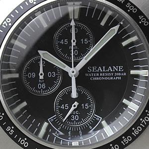 SE17-BK 文字盤 1/20秒計・12時間計 クロノグラフ スモールセコンド