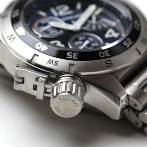 シーレーン 腕時計 クォーツ se46mbl リューズ