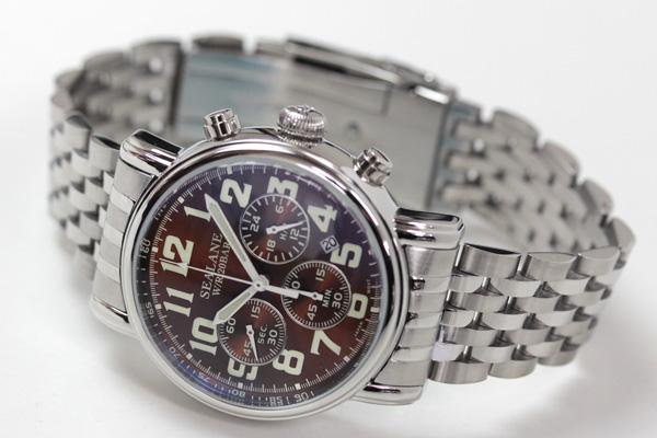 SEALANE(シーレーン)クオーツ式腕時計SE48-MBR ブラウン