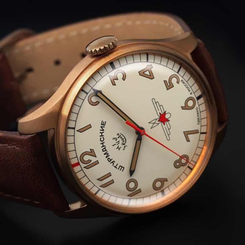 ブロンズ腕時計