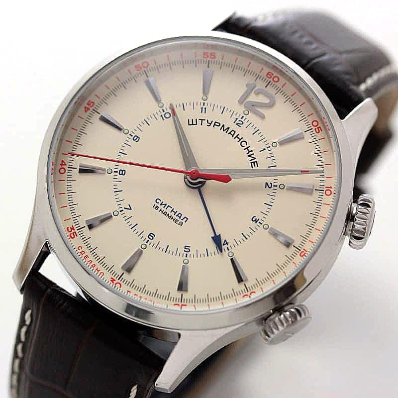 STURMANSKIE/シュトゥルマンスキー/STRELA(ストレラ)/手巻き式/アラームウォッチ/2612-1801731 腕時計