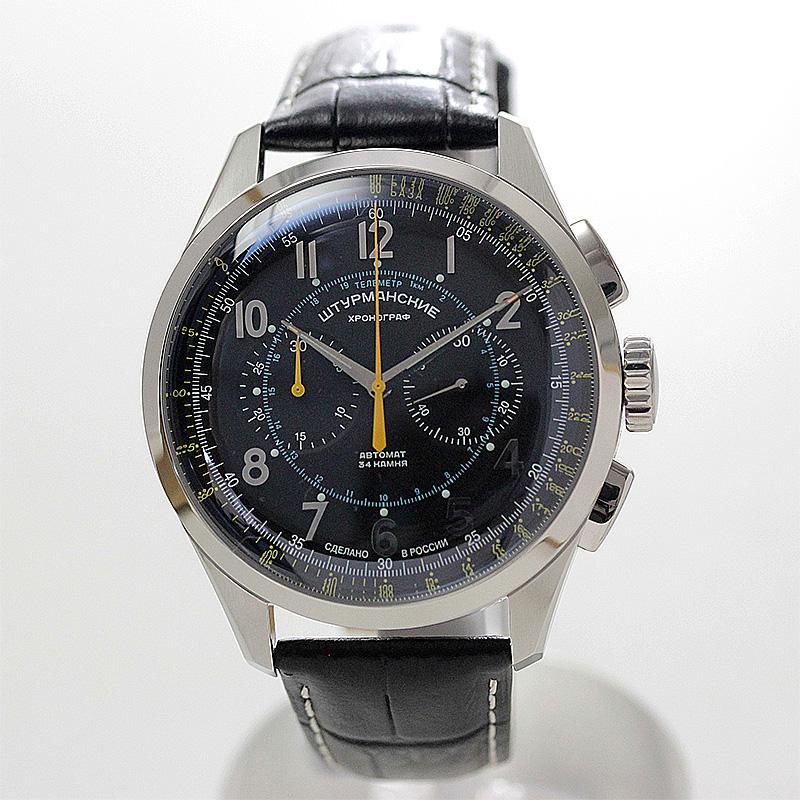 自動巻きクロノグラフ腕時計