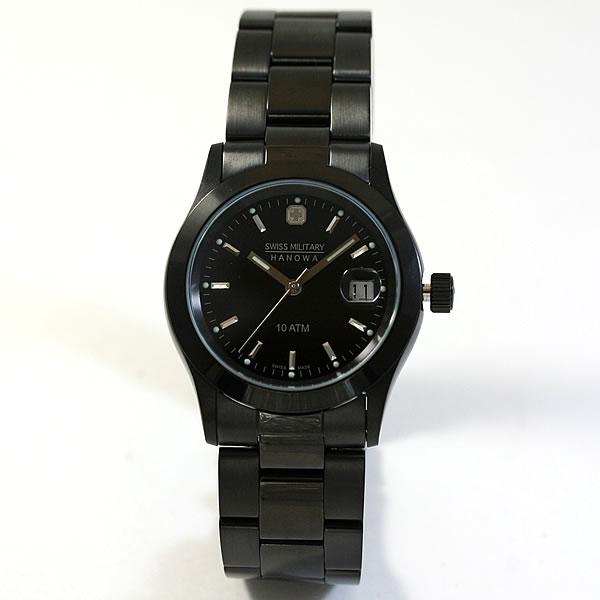 スイスミリタリー腕時計 エレガントブラック 男性用 ML132