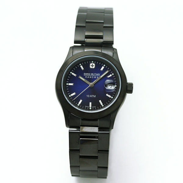 SWISS MILITARY エレガントブラック腕時計 ML186 詳細