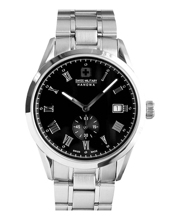 スイスミリタリー腕時計 ローマン(Roman) ML344 ブラック