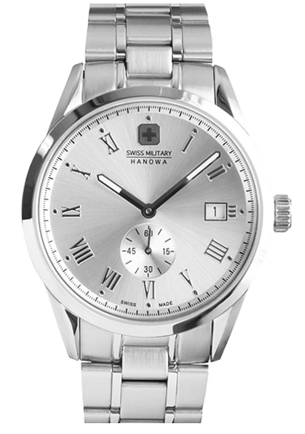 スイスミリタリー腕時計 ローマン(Roman) ML345 ホワイトシルバー