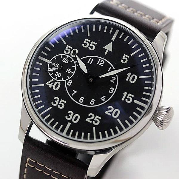 アジア製スケルトンムーブメントを使用した、手巻き式時計正美堂創業50周年記念ウォッチ/オリジナル腕時計/ミリタリー文字盤/アジア製ムーブメント使用 正美堂でムーブメントを調整後、技能士が組み立てた時計