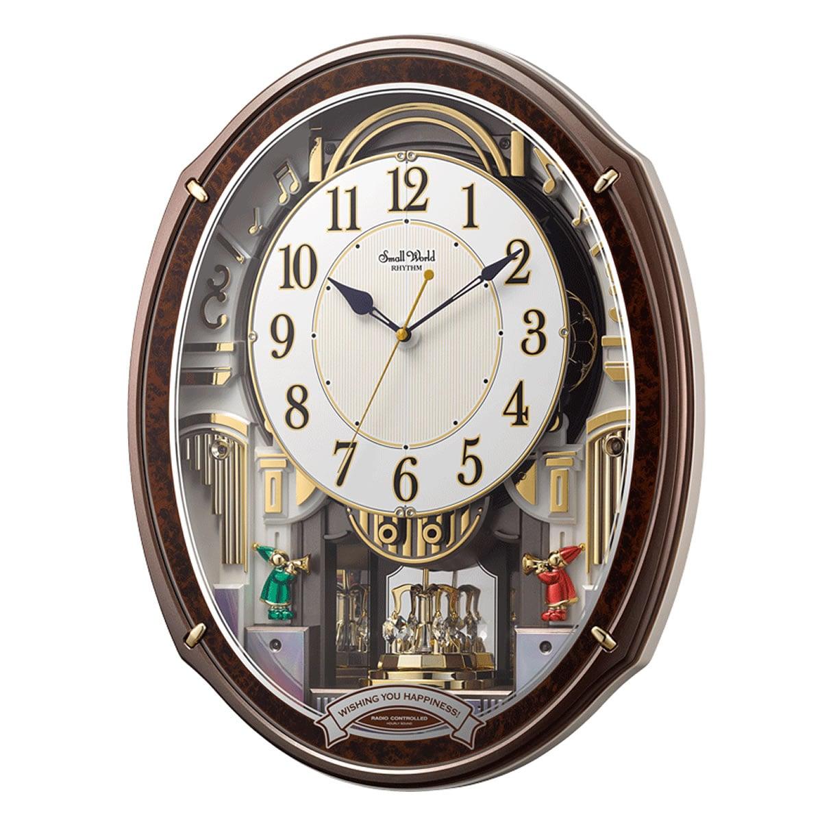RHYTHM リズム SmallWorld 電波からくり掛け時計 スモールワールドアルディ【4MN545RH23】
