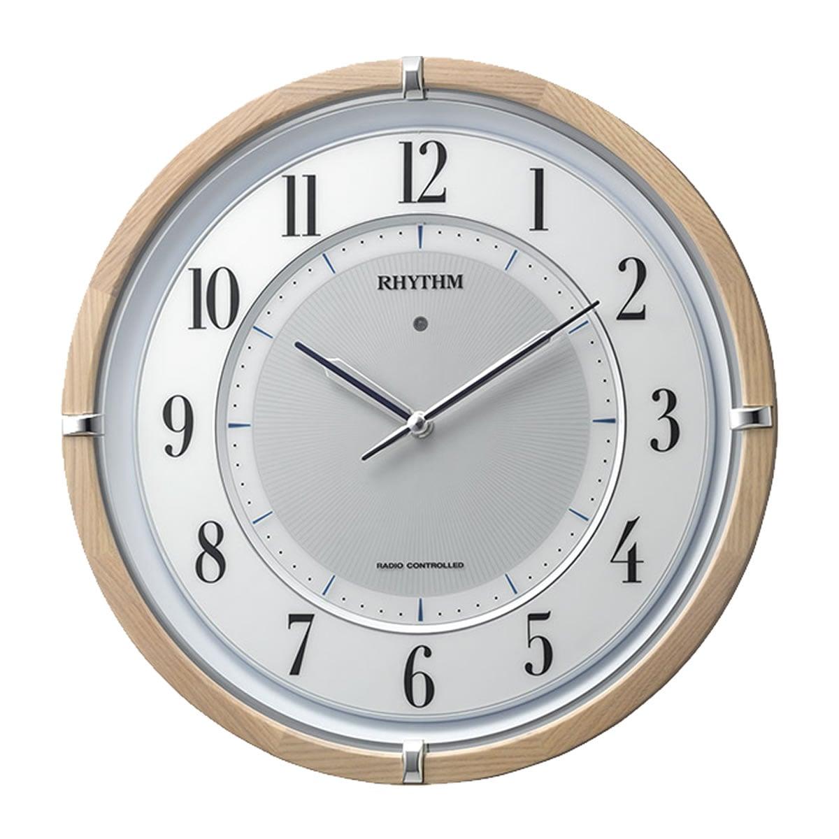 RHYTHM リズム  電波掛け時計 サイレントソーラーM848【4MY848SR06】