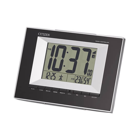 CITIZEN シチズン デジタル 電波 掛け置き兼用 目覚まし時計  8RZ181-002
