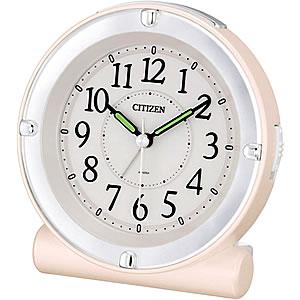CITIZEN/シチズン 全面が点灯するライト付目覚まし時計 セリア8REA18シリーズ ピンク 【8REA18013】
