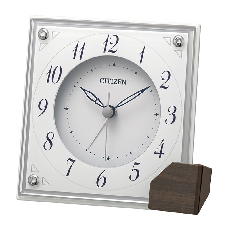 CITIZEN シチズン アラーム付き クオーツ 置き時計 8RG625-003 白