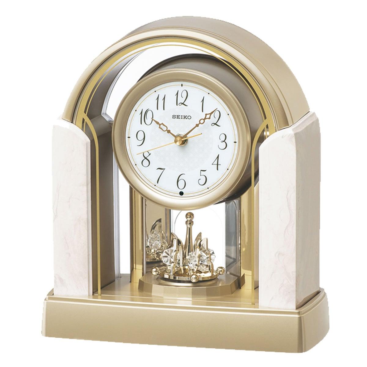 SEIKO セイコー 回転飾り付 電波置き時計 BY236G