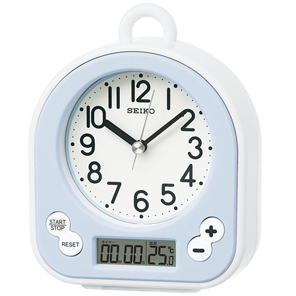 SEIKO セイコー 生活防水仕様 キッチン&バスクロック 掛け置き兼用時計 BZ358L 薄青