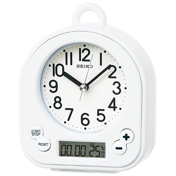 SEIKO セイコー 生活防水仕様 キッチン&バスクロック 掛け置き兼用時計 BZ358W 白