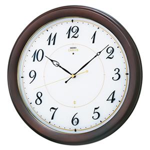 SEIKO EMBLEM セイコーエムブレム シックな木製電波壁掛時計[HS547B]