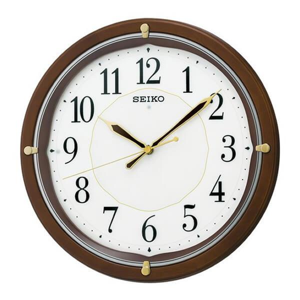 SEIKO セイコー 木製 夜光 電波 掛け時計 KX202B