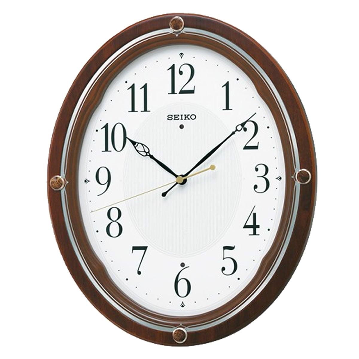 SEIKO(セイコー)スタンダード 木枠 電波掛け時計 KX209B 茶