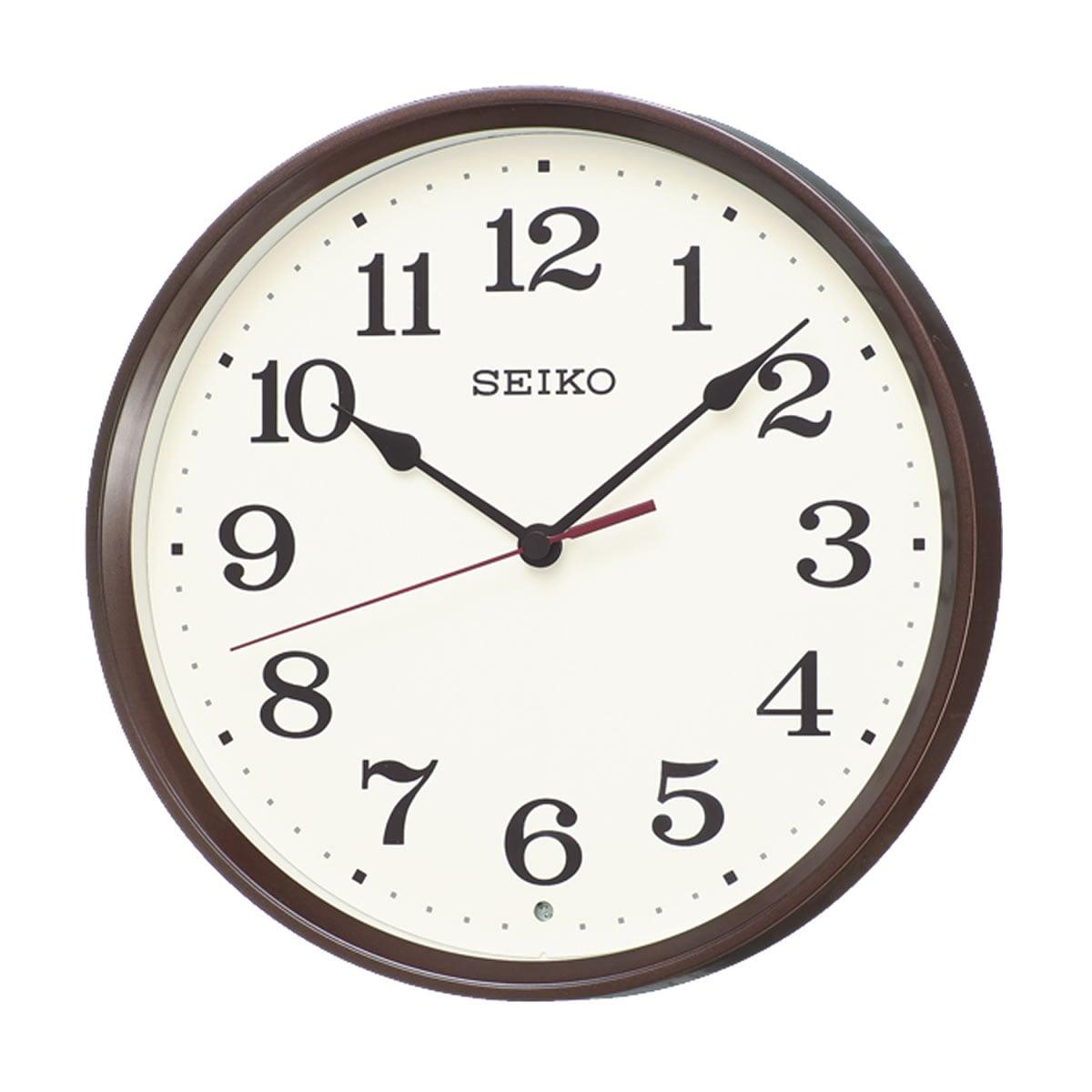 SEIKO(セイコー)スタンダード 電波掛け時計 KX223B 茶メタリック