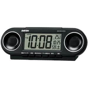 SEIKOセイコー ライデン 電波クロックデジタル目覚まし時計 【NR531K】 黒メタリック