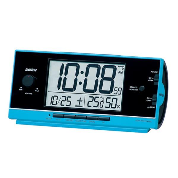 SEIKO セイコー PYXIS 大音量アラーム 電波 目覚まし時計 ライデン NR534L 青