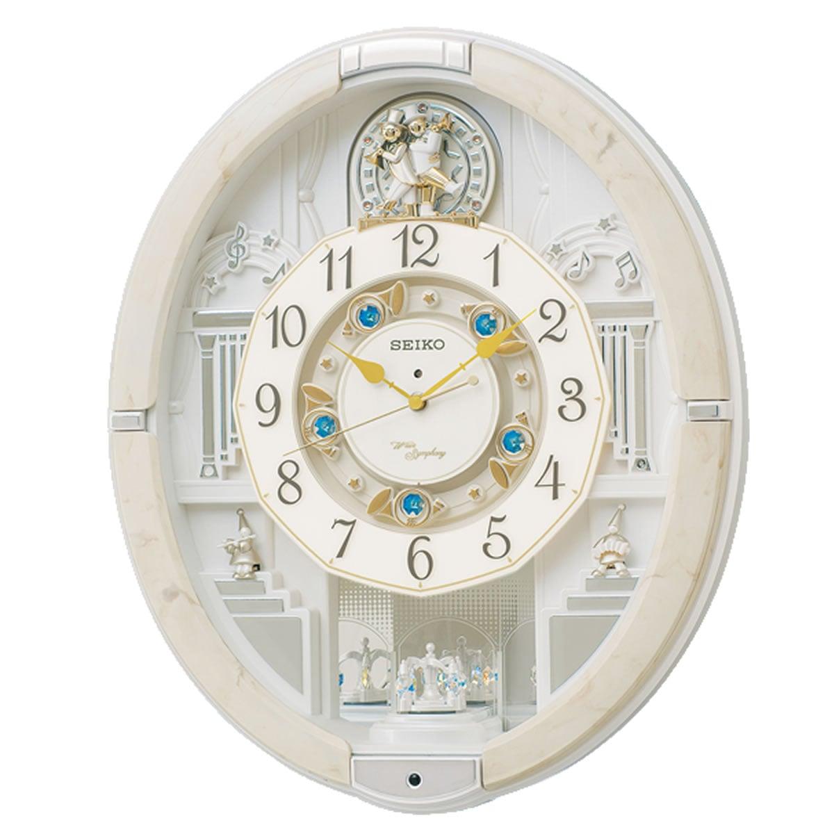 SEIKO(セイコー) 電波からくり掛け時計 ウェーブシンフォニー RE576A アイボリー