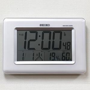 SEIKO セイコー デジタル電波クロック 【SQ424W】