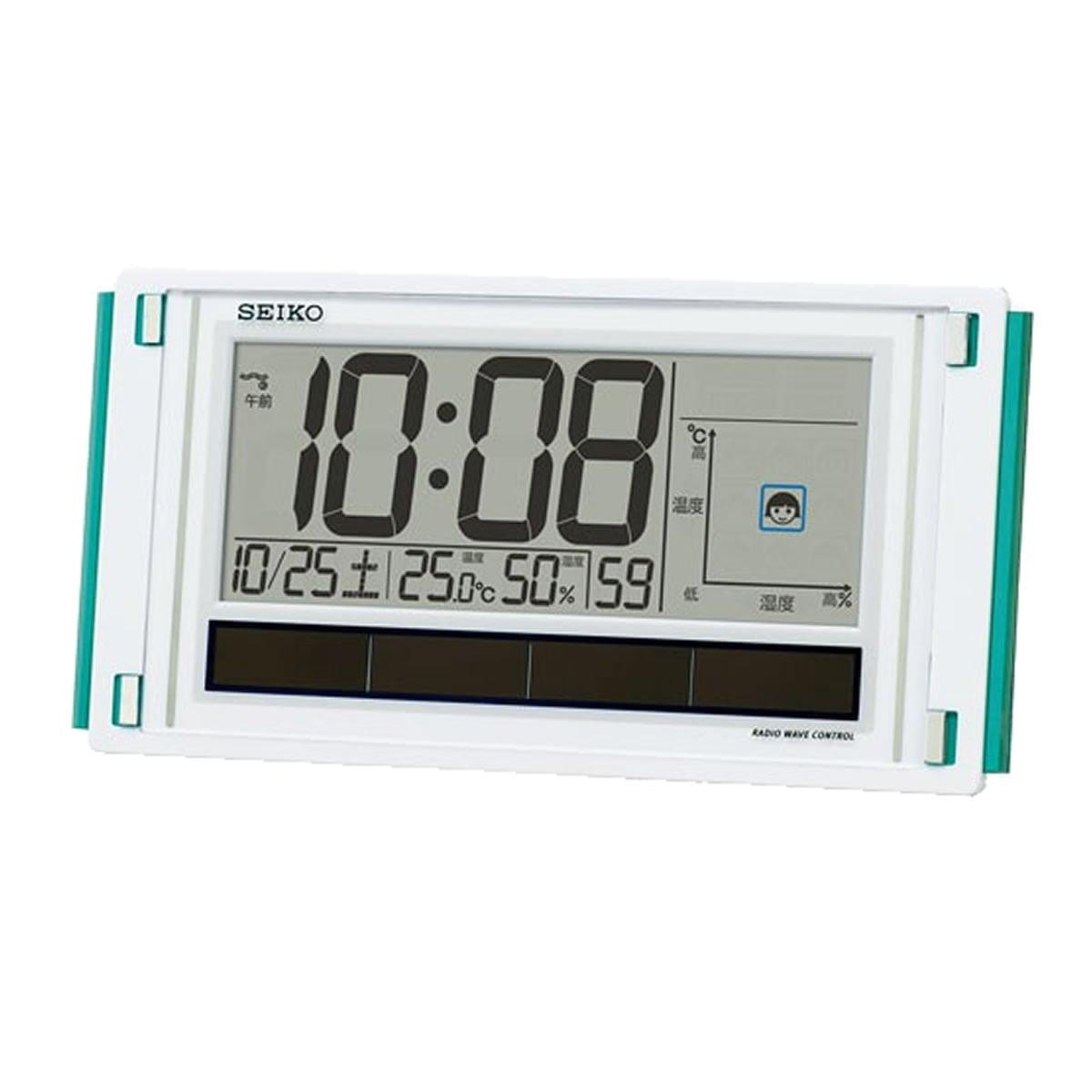SEIKO(セイコー)快適環境NAVI ハイブリッドソーラー デジタル電波クロック SQ436W【グリーン購入法適合商品】