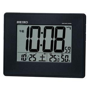 セイコー(SEIKO)掛け置き兼用デジタル電波クロック/SQ770K/黒メタリック