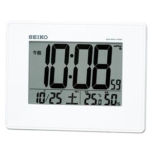 セイコー(SEIKO)掛け置き兼用デジタル電波クロック/SQ770W/白パール