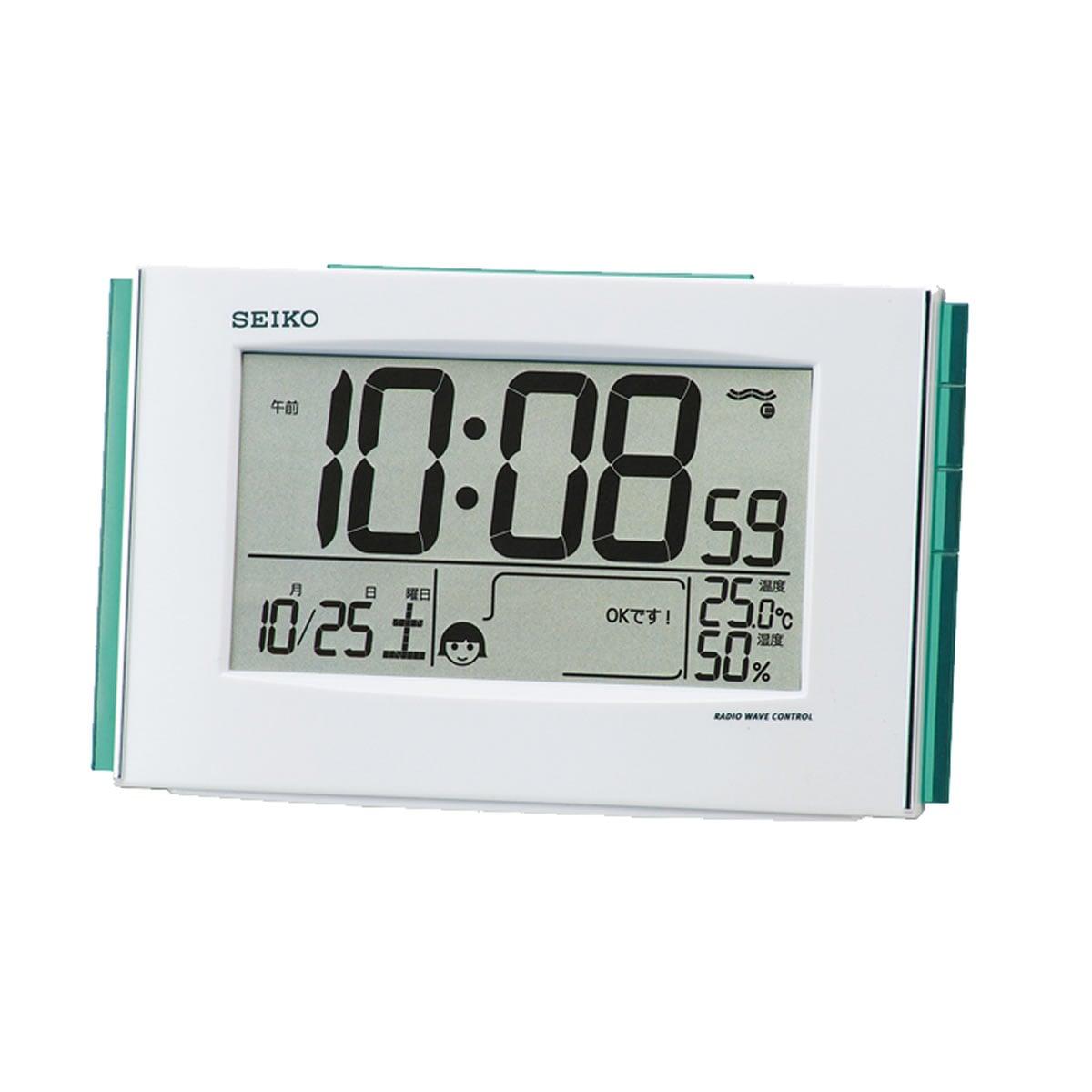 SEIKO(セイコー)快適環境NAVI デジタル 電波目覚まし時計 SQ776W