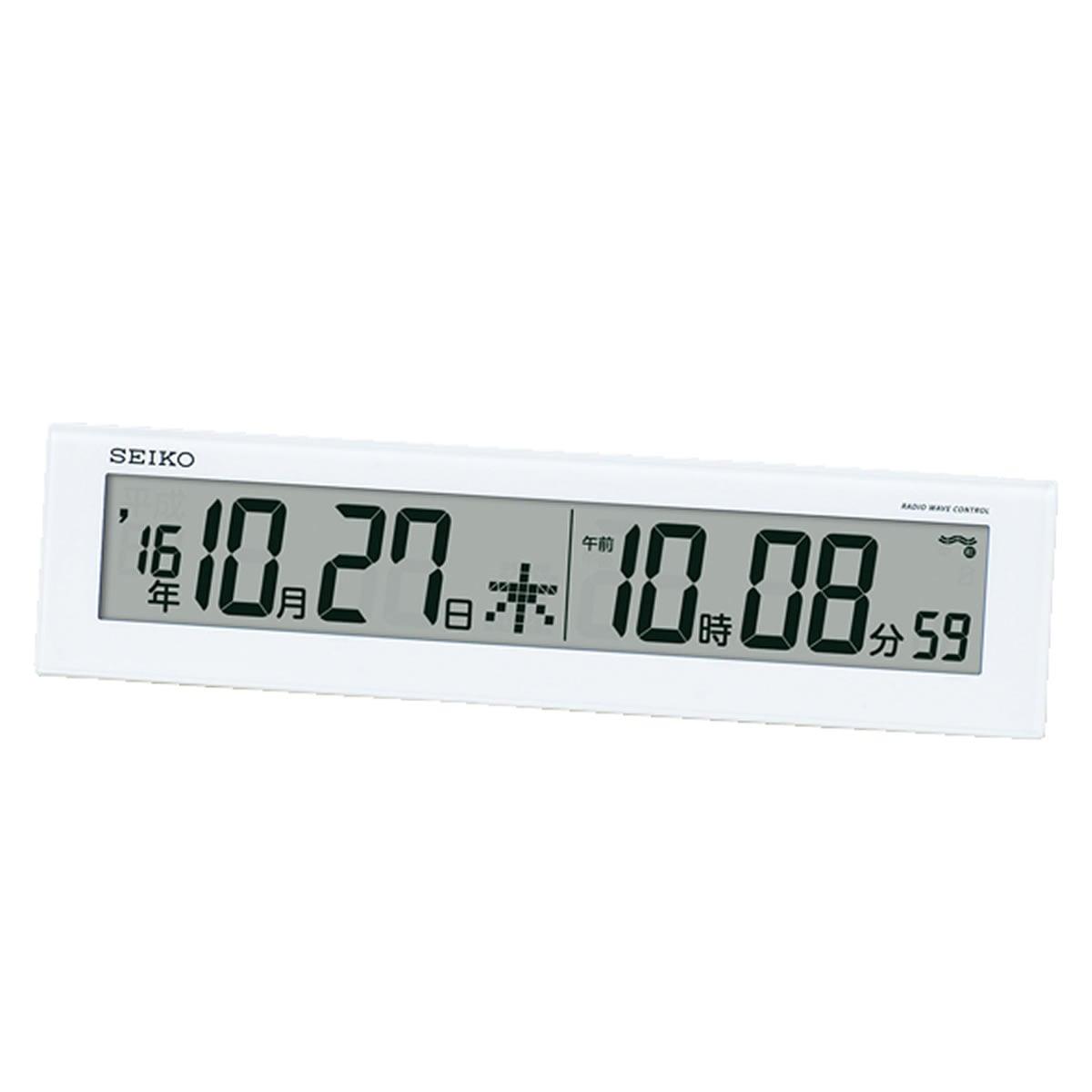 SEIKO(セイコー)カレンダー付 掛置兼用 デジタル電波クロック SQ779W