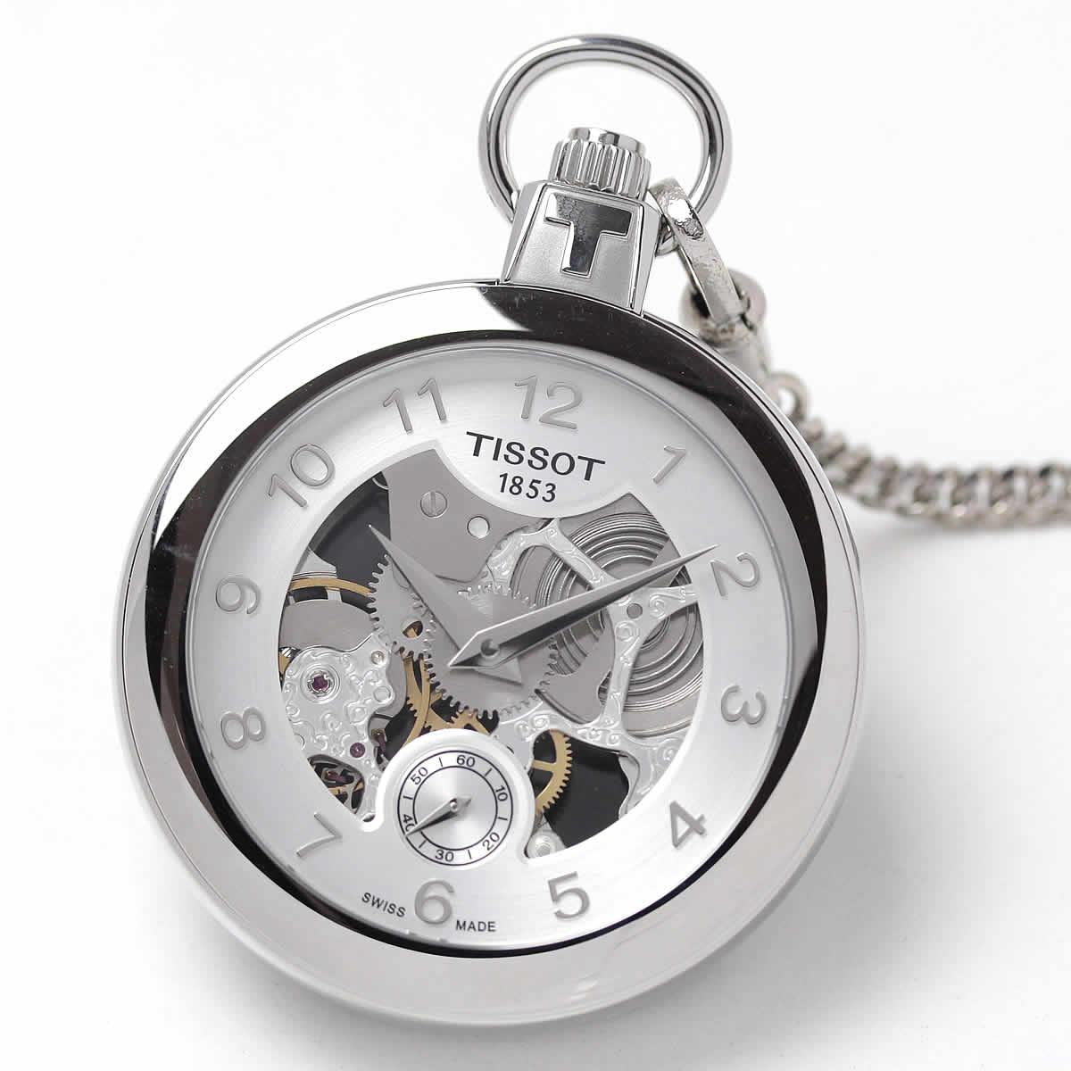 ティソ(TISSOT)ポケット メカニカル スケルトン 手巻き T853.405.19.412.00 懐中時計