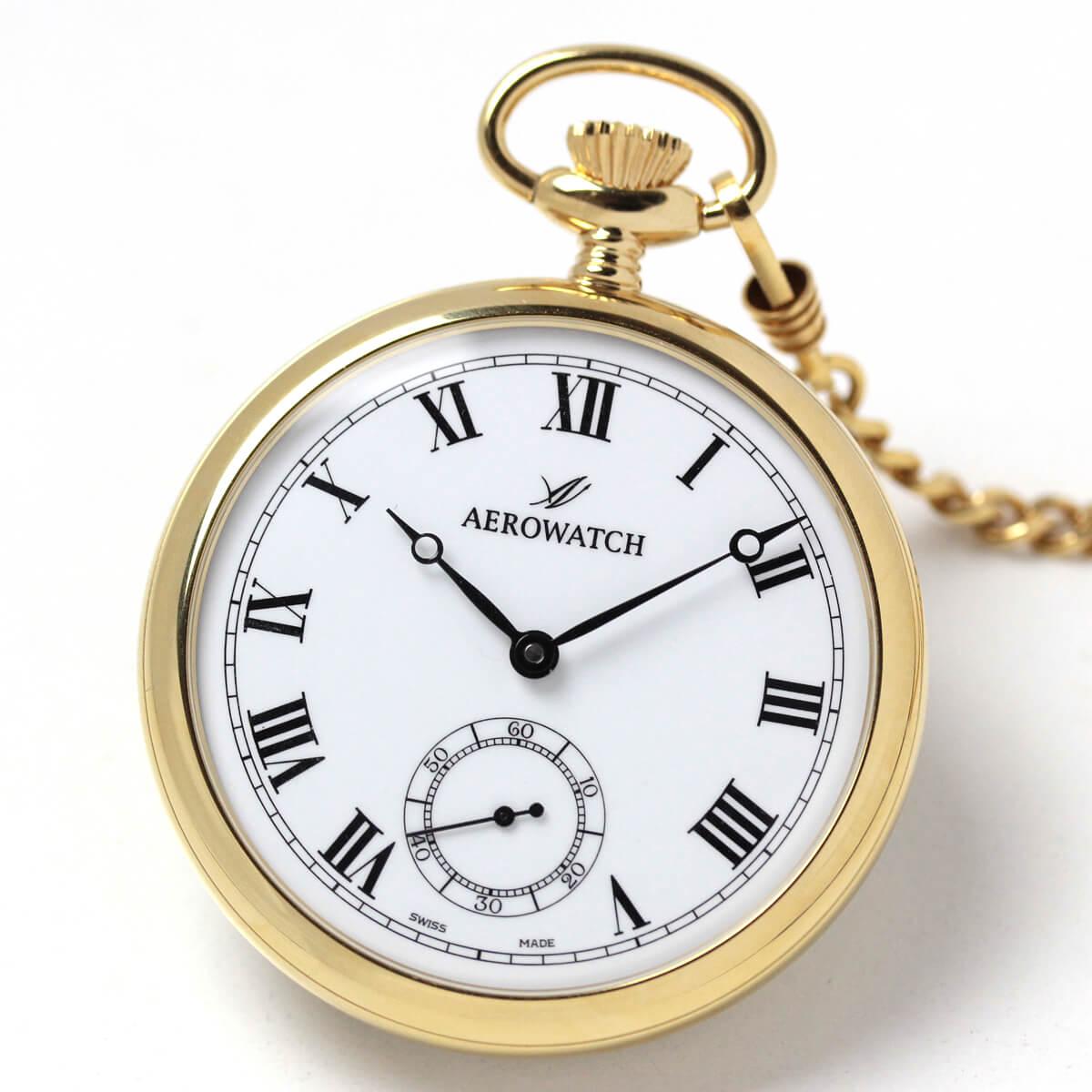 アエロ(AERO) オープンフェイス 手巻き式 50794J301 懐中時計