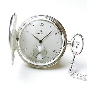 アエロ/AERO/ハンターケース/手巻き式/銀無垢/55650A905/懐中時計